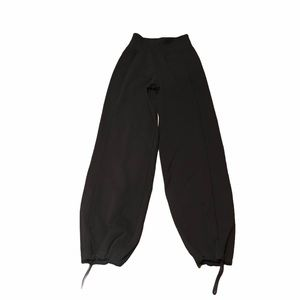 Lululemon black tights drawstring ankles size 4